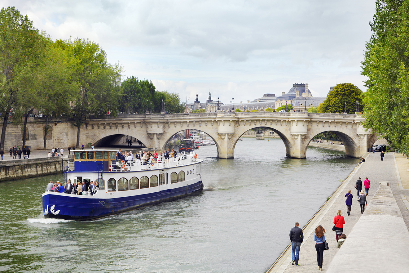 Take a cruise on the Seine and visit famous landmarks