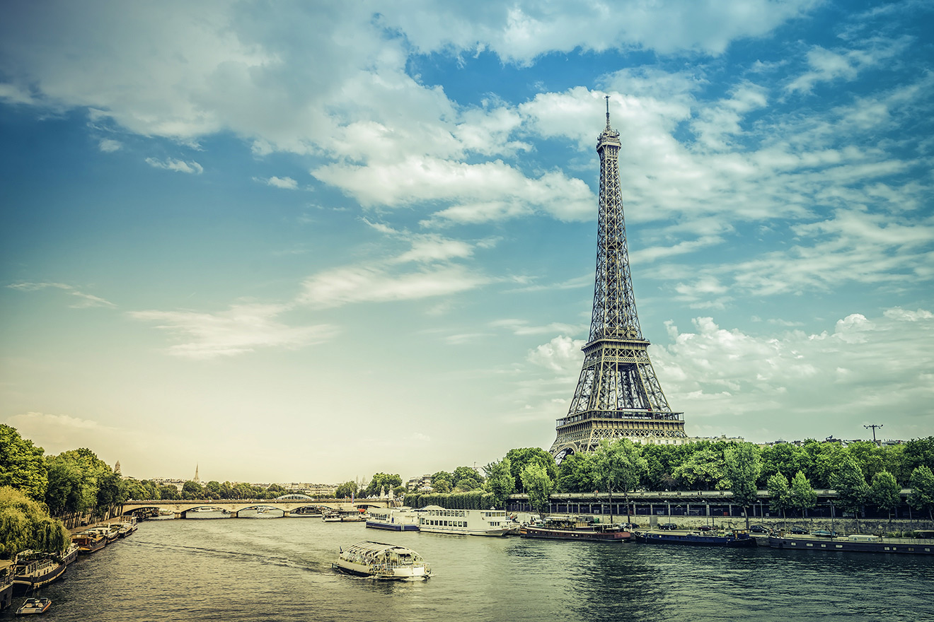 The Eiffel Tower is just minutes away