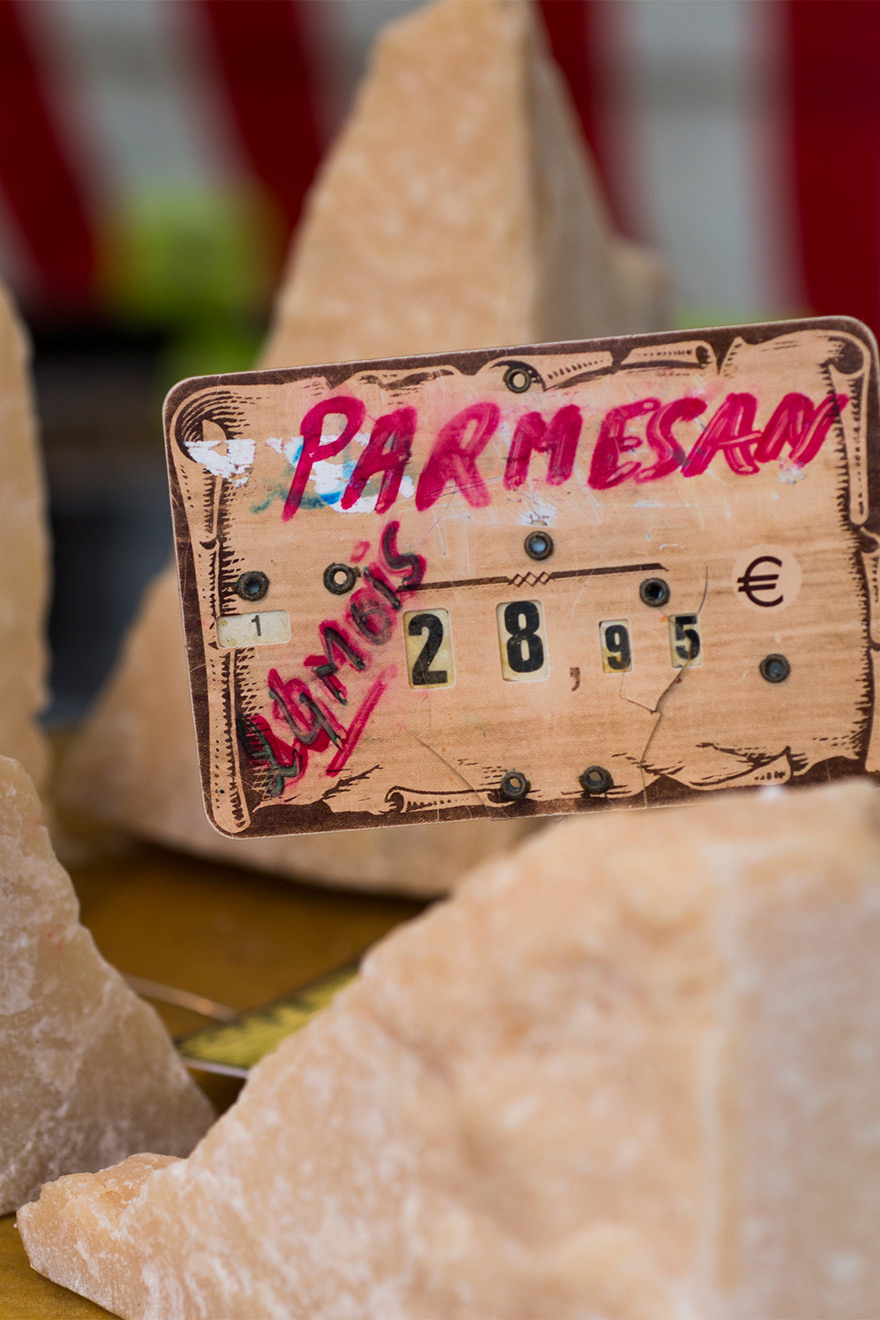 Shopping for cheeses will make you feel like a local in no time