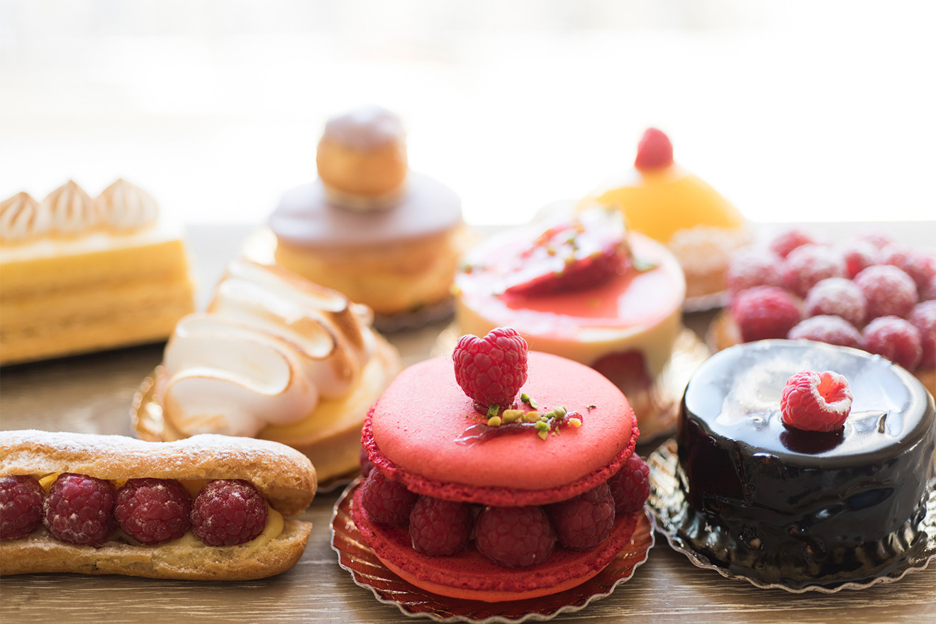 Beautiful pastries can be found on nearly every block in Paris
