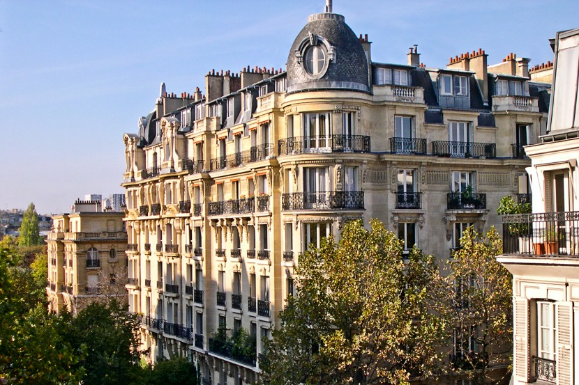 Classic Parisian views of the beautiful tree-lined street