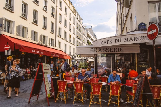 Find a spot for people watching along the famous rue Cler