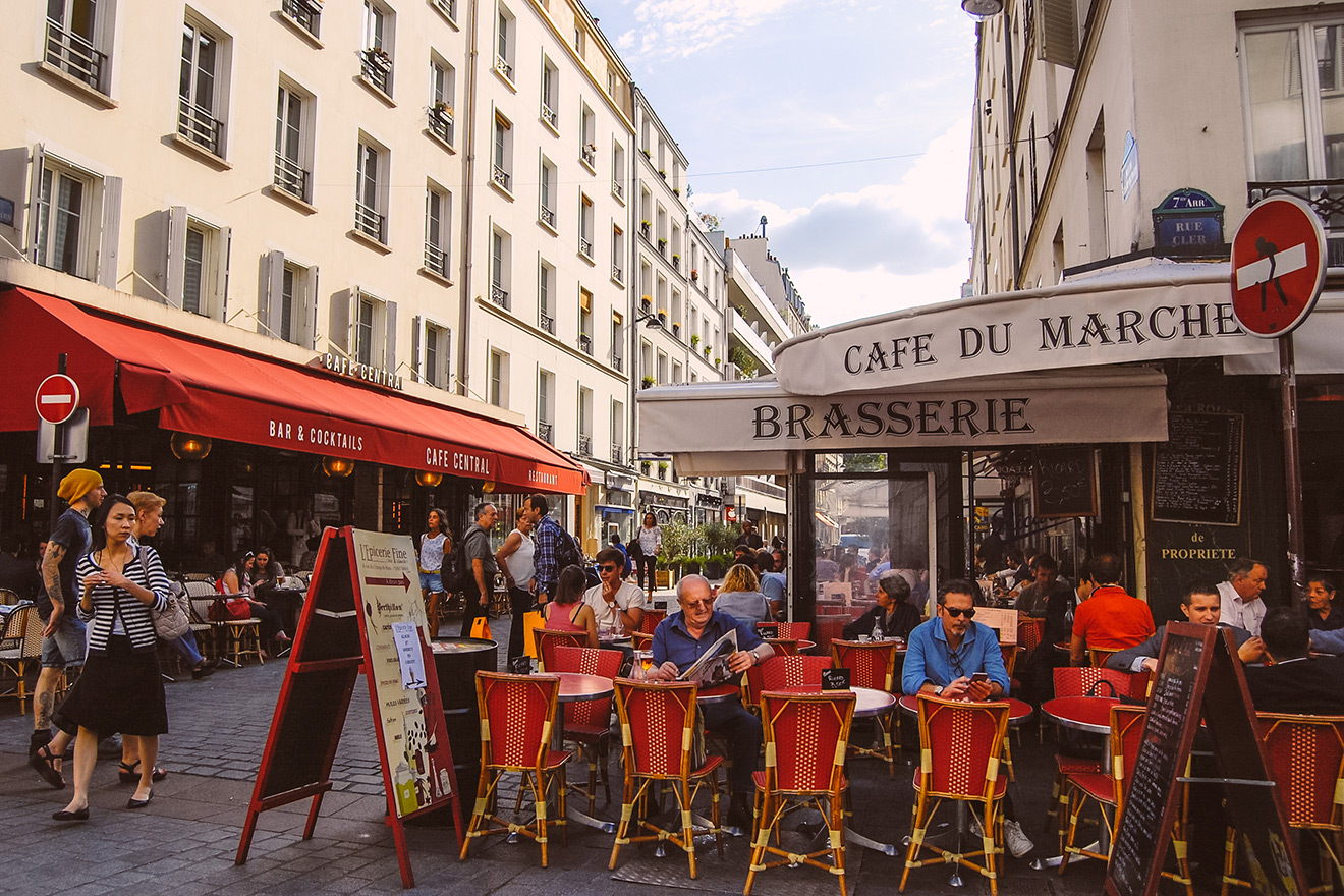 Cafe du Marche on rue Cler