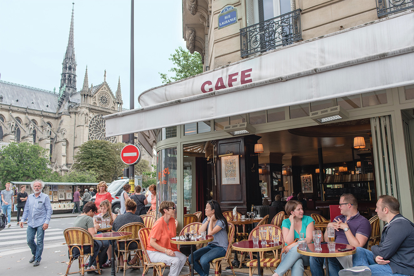 Soak up the Parisian atmosphere at a café