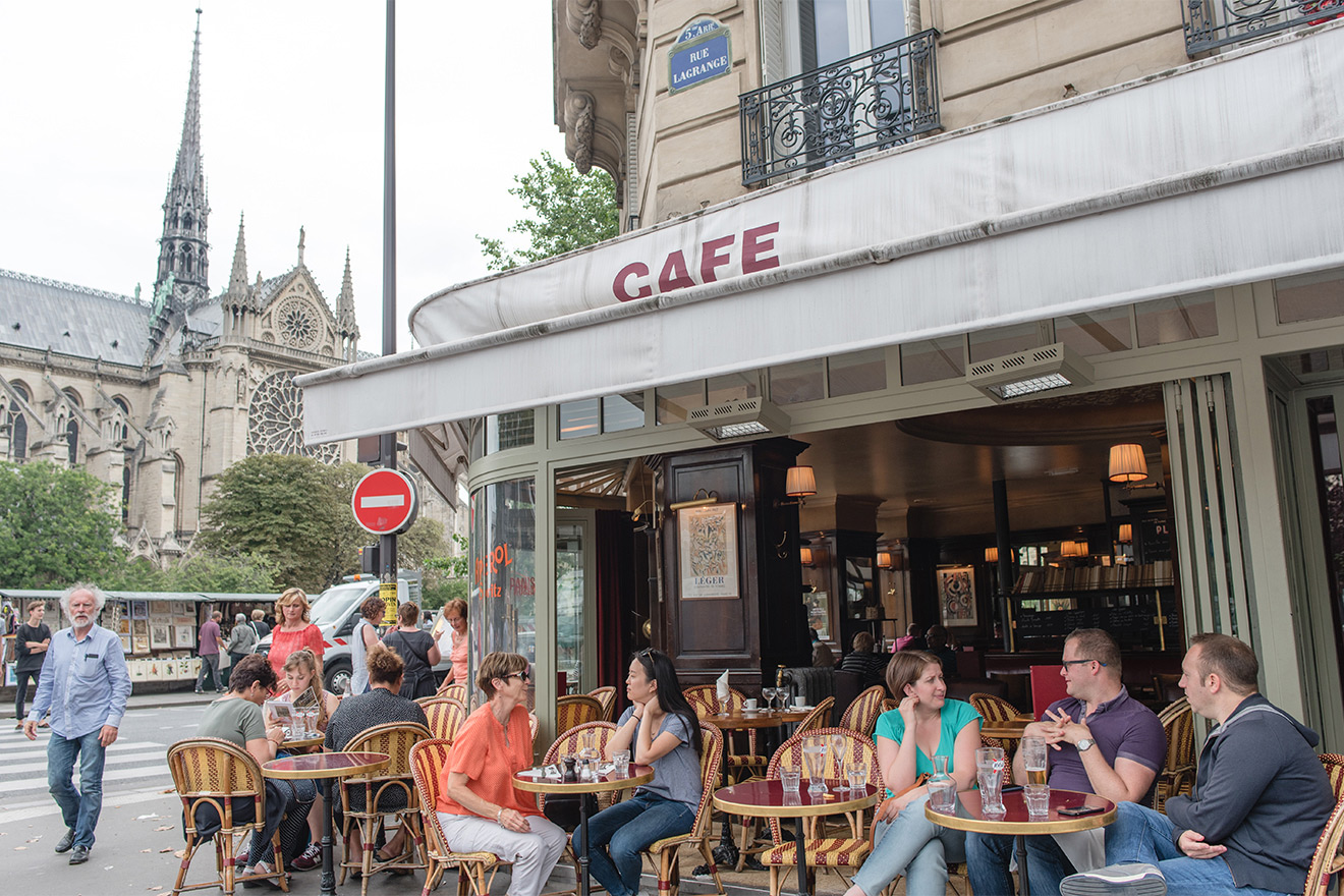 Join the Parisians at the many street cafes