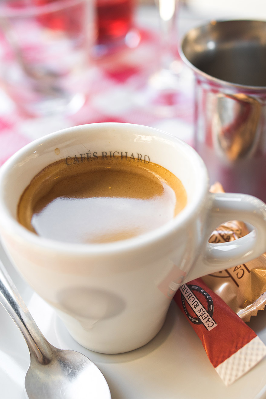 Enjoy an espresso at one of the local cafes in Paris