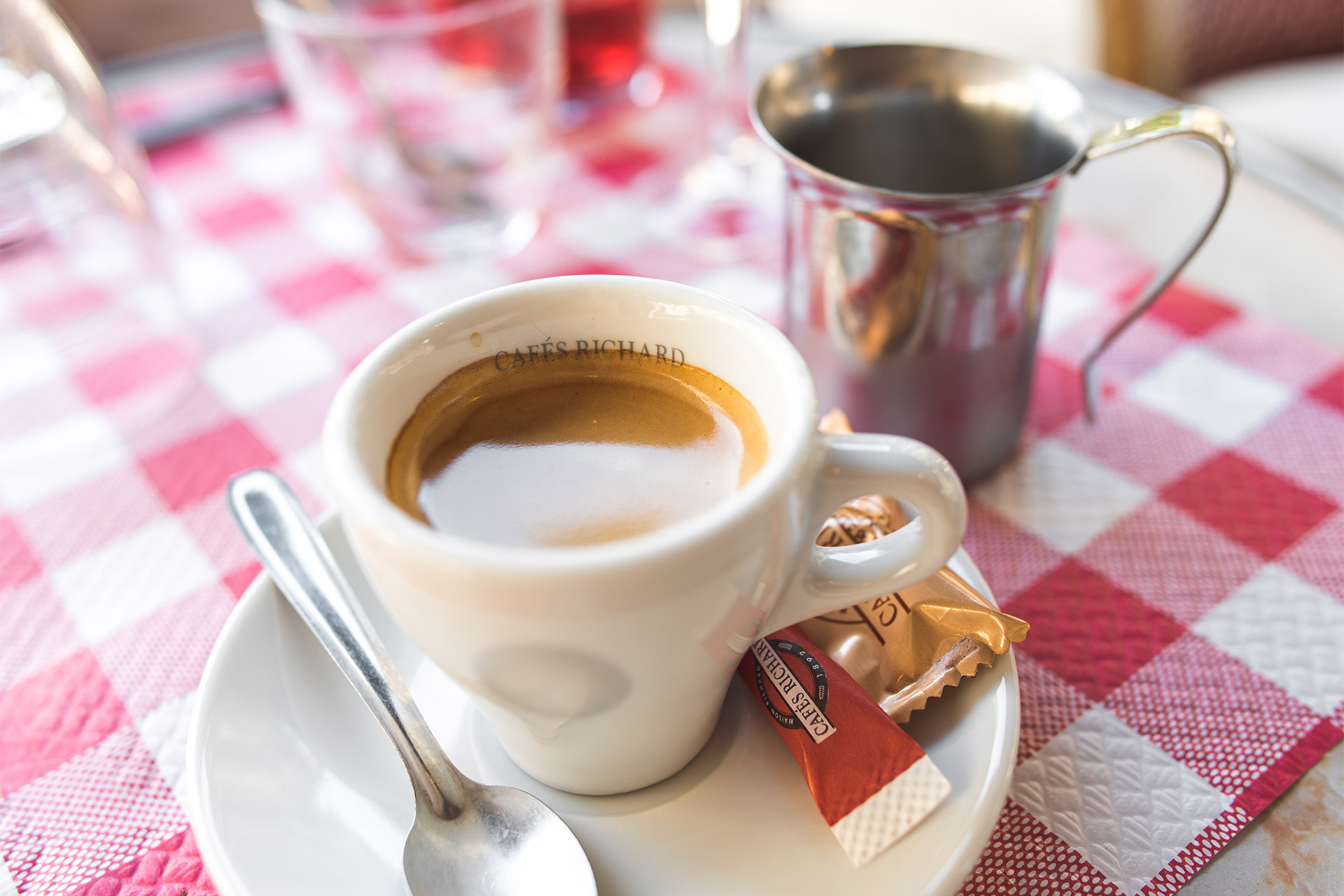 Enjoy an espresso in Paris
