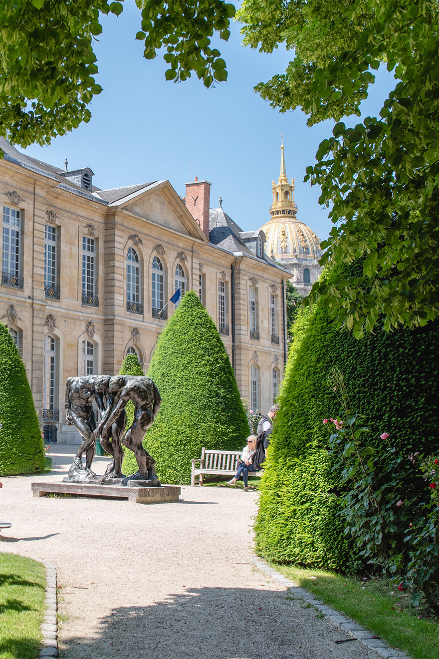 The beautiful Musee Rodin in Paris