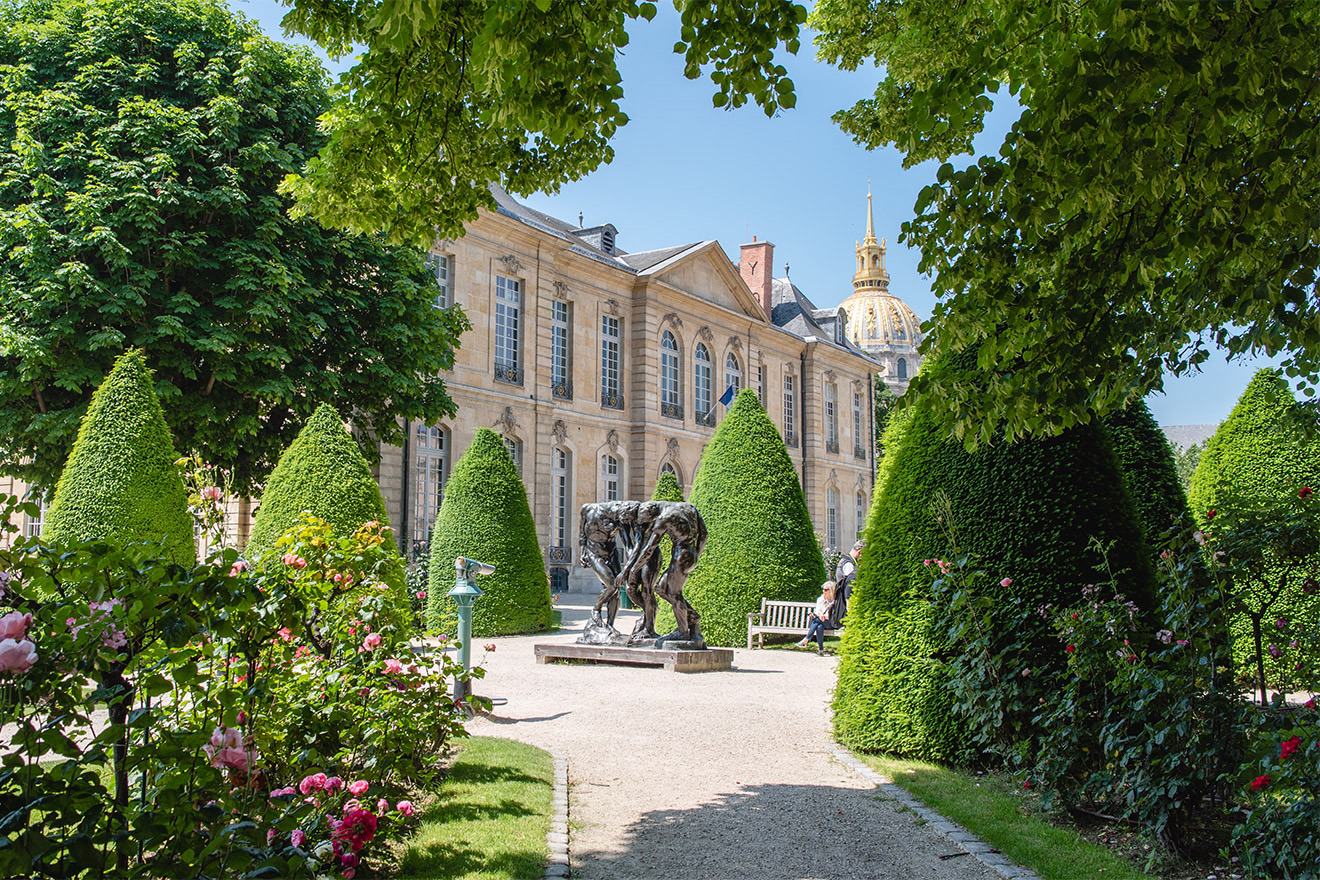 Walk to the romantic Rodin Museum