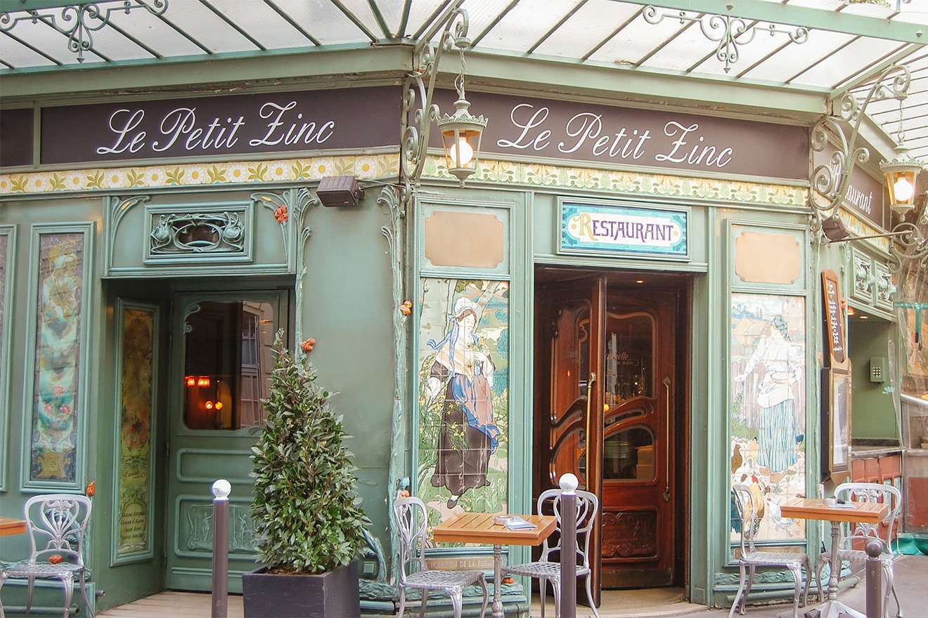 Cafe Zinc in 6th Arrondissement of Paris