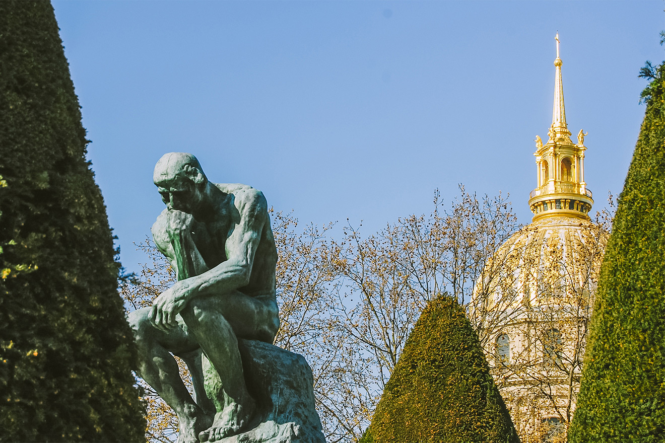 Rodin Museum gardens in Paris