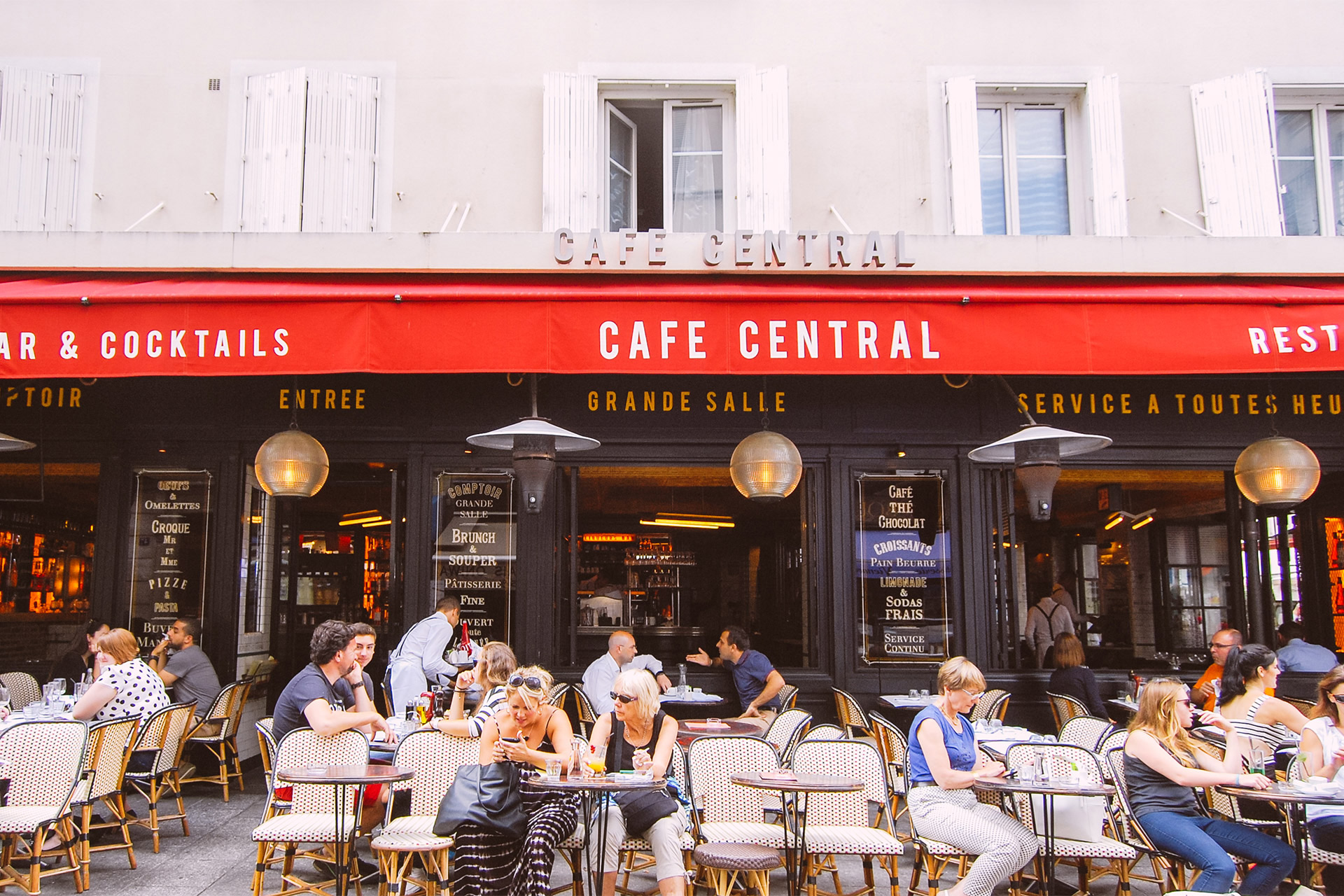 Cafe Central on Rue Cler in Paris