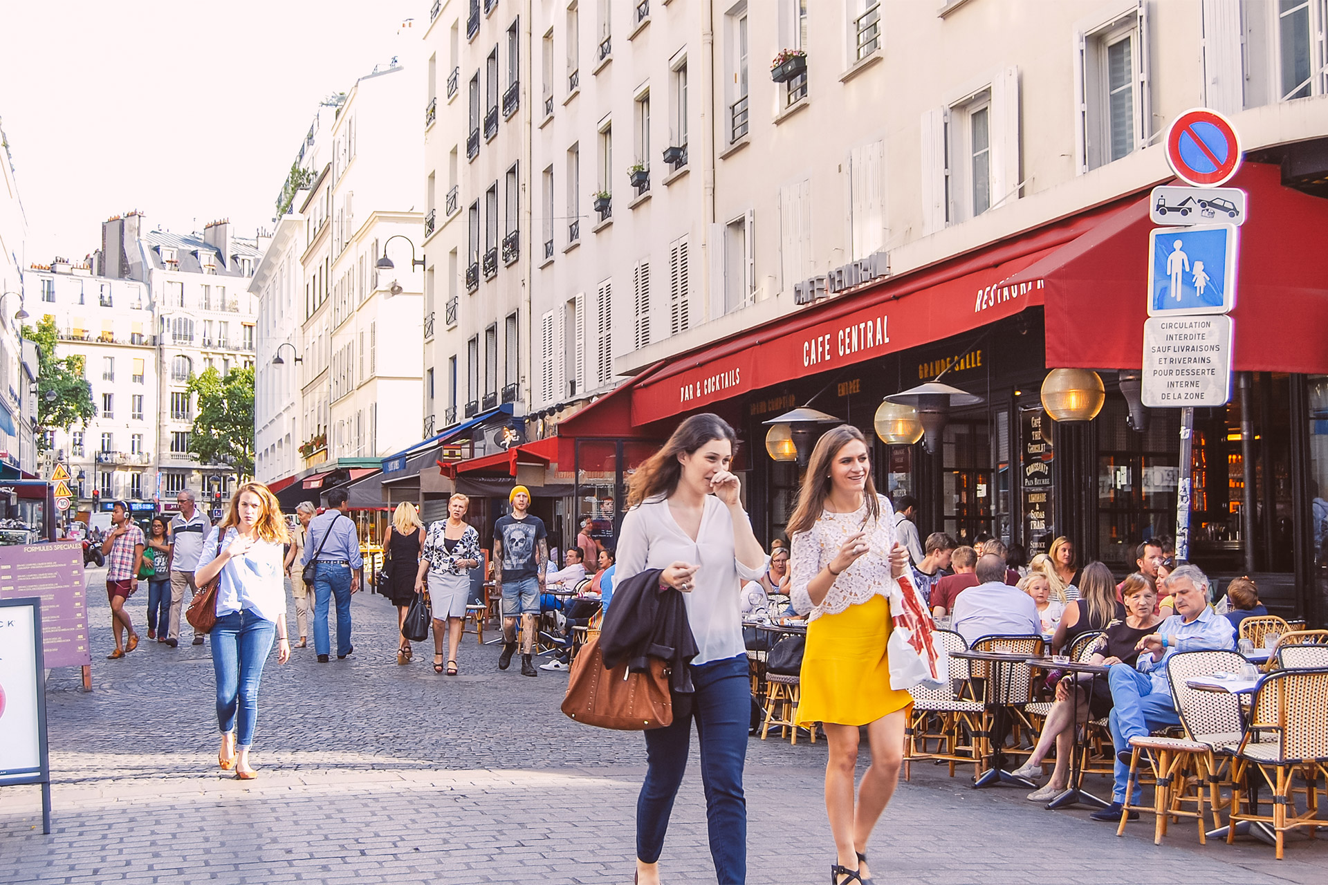 Walk to the famous Rue Cler market street in Paris