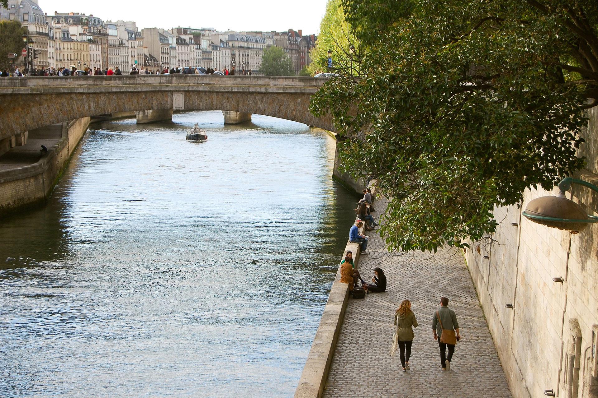 Riverbank of the Seine in Paris