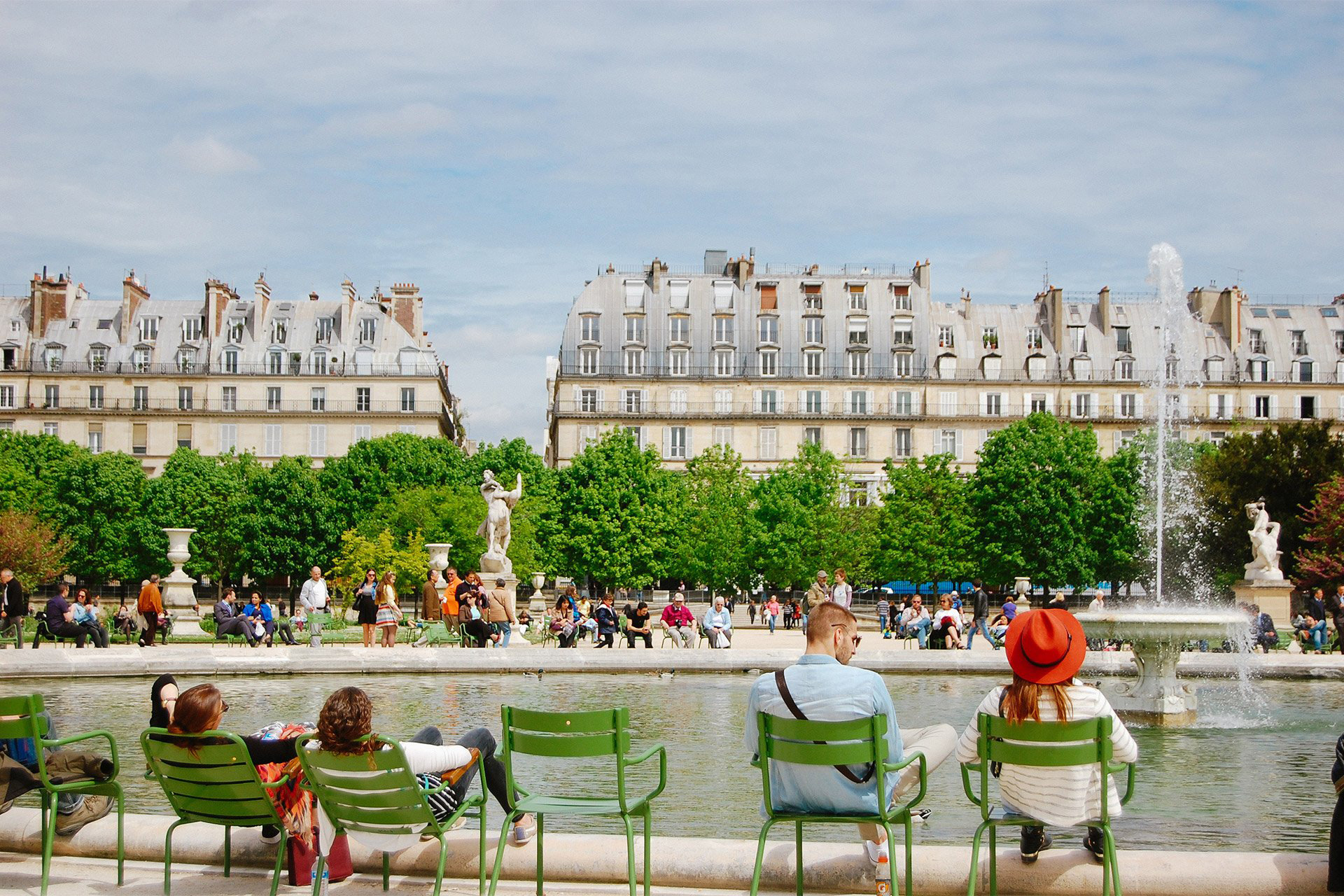 Soak up the sun in the Tuileries gardens