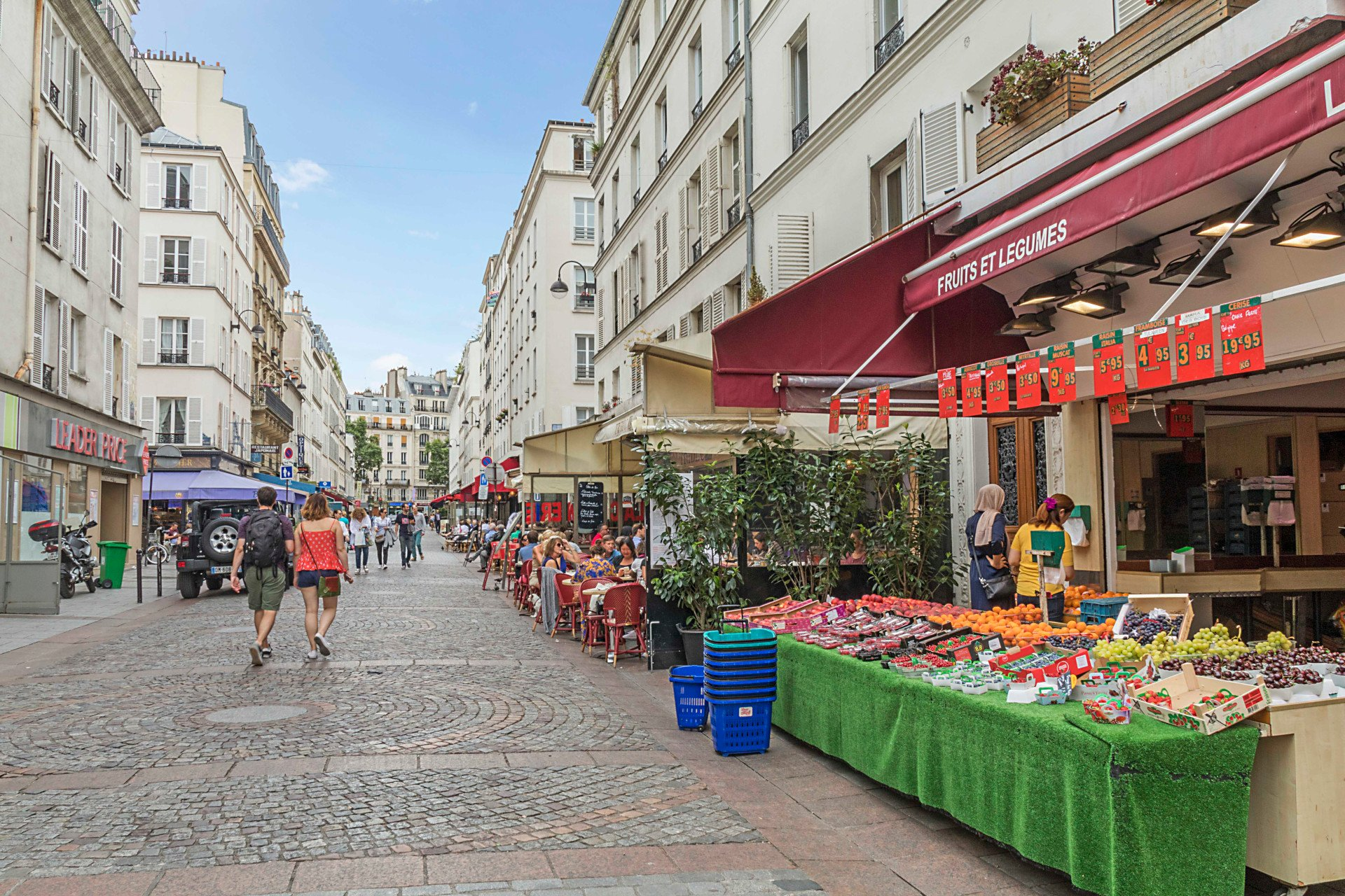 Get all of your groceries just seconds away from this apartment in the Roannaise vacation rental by Paris Perfect