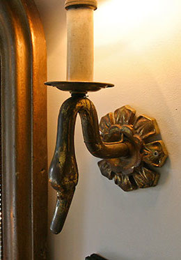 Bronze Swan Candle Holders