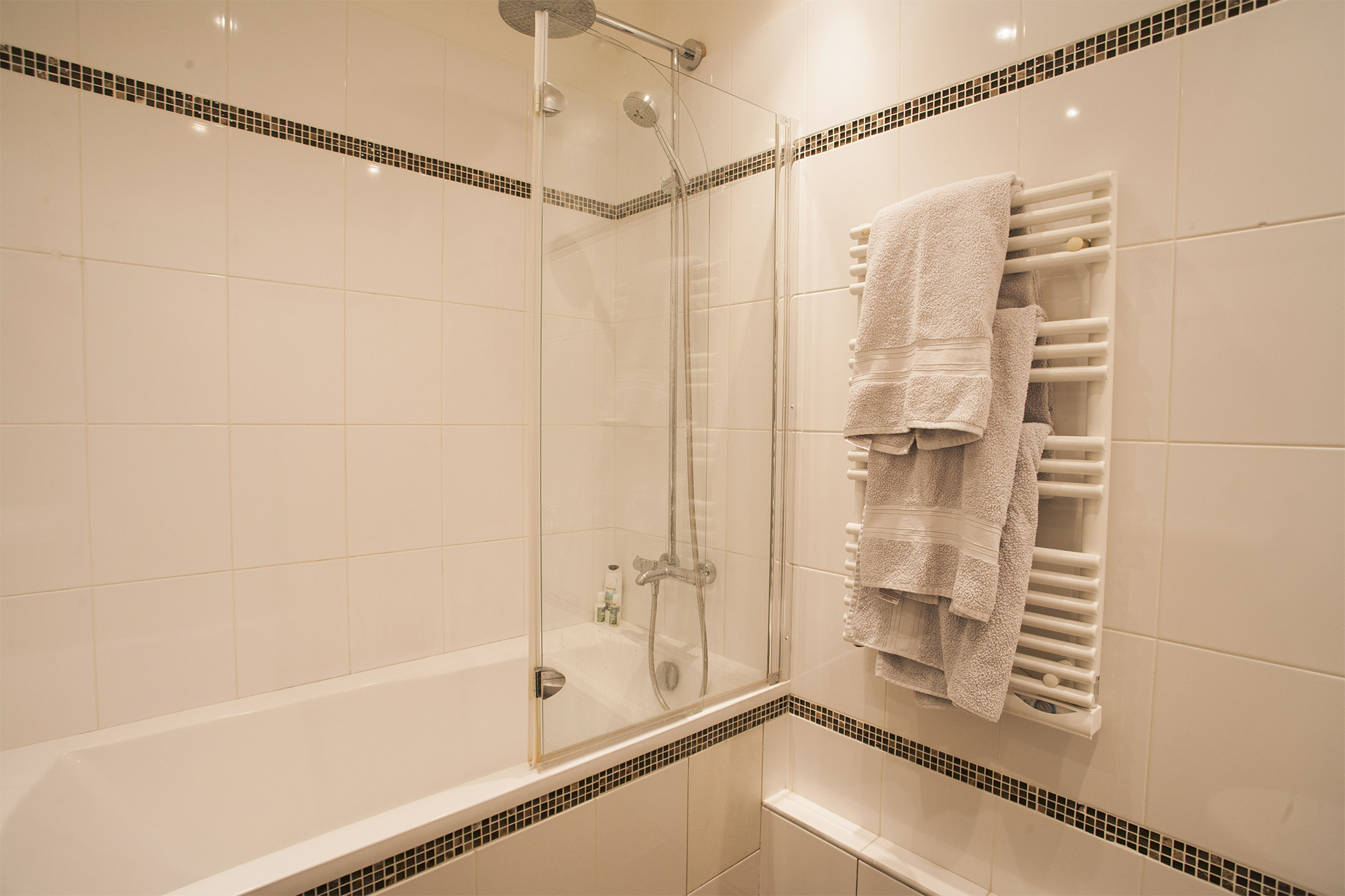 Heated Towel Rail in Paris Bathroom