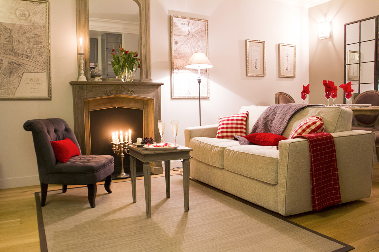 Romantic Parisian Living Room