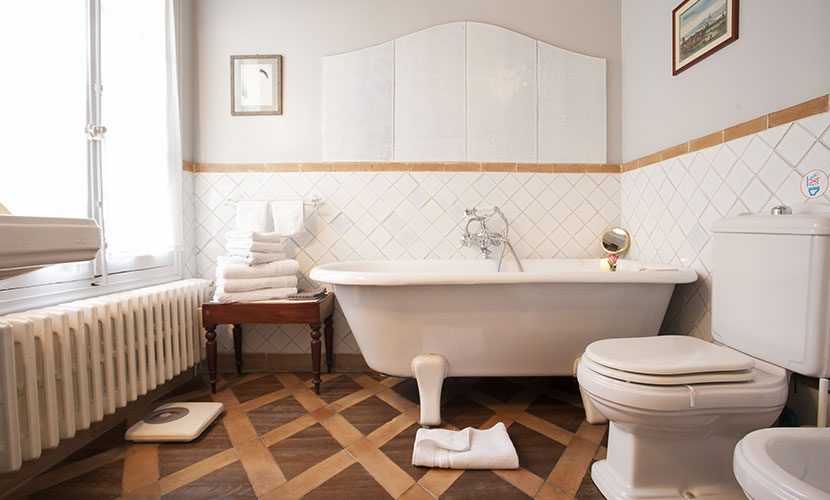 Paris Apartment Bathroom with Toilet and Bidet