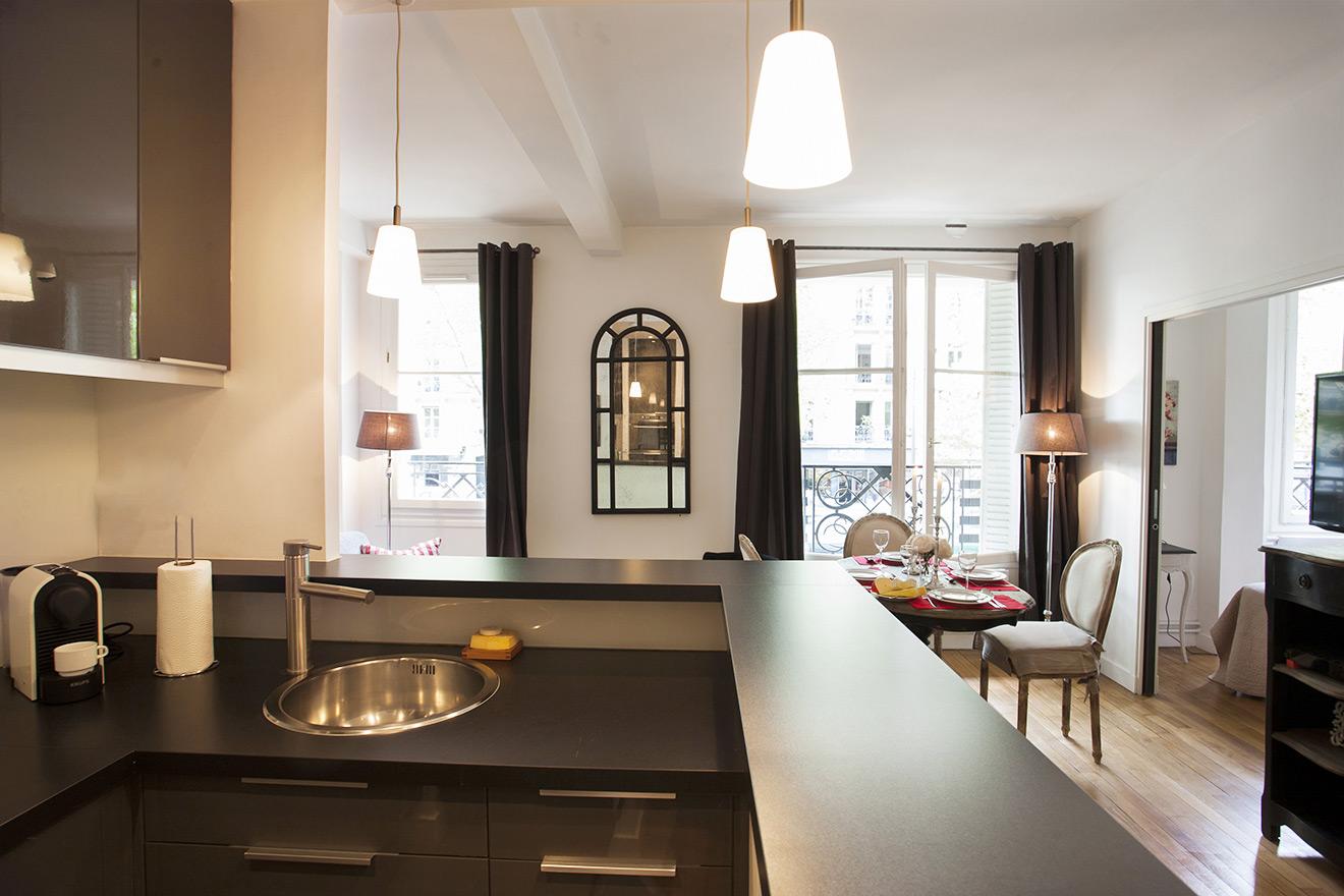 Kitchen Paris Vacation Rental