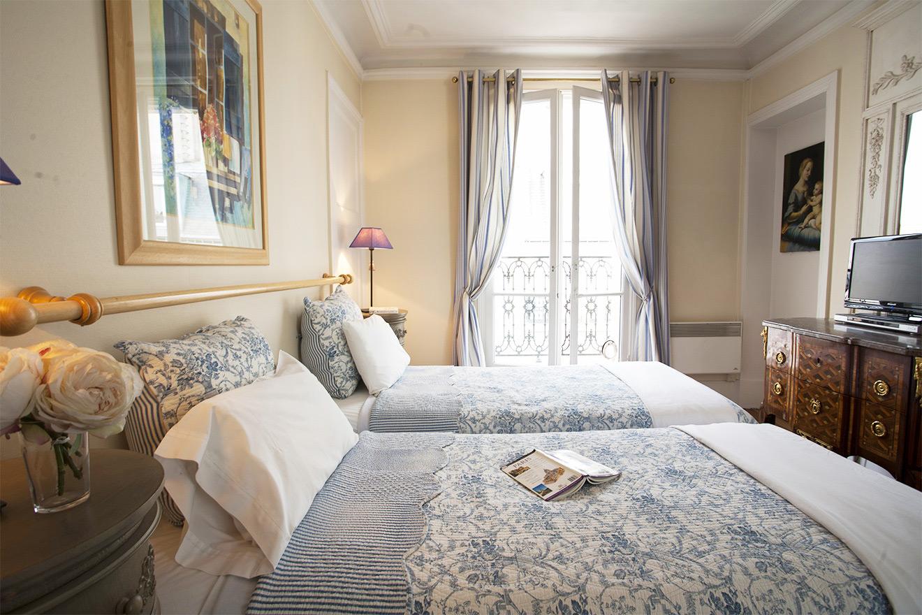 French Provencal Bedroom - Sancerre Apartment Paris