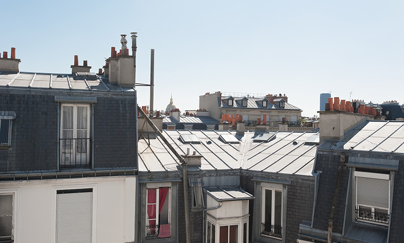 Paris rooftop views from the small balconies