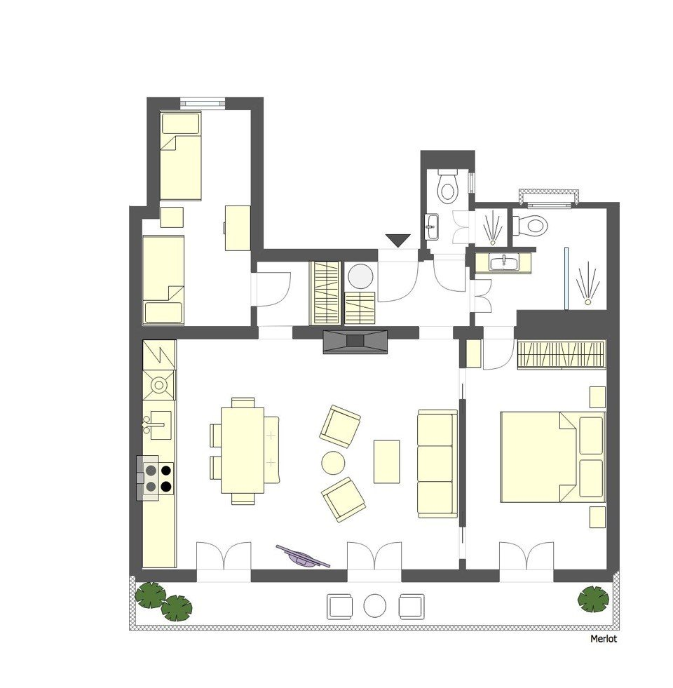 Merlot Paris Apartment Floorplan