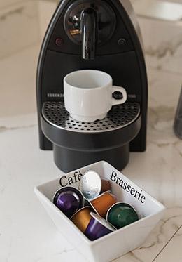 Espresso Machine in Paris Apartment Rental