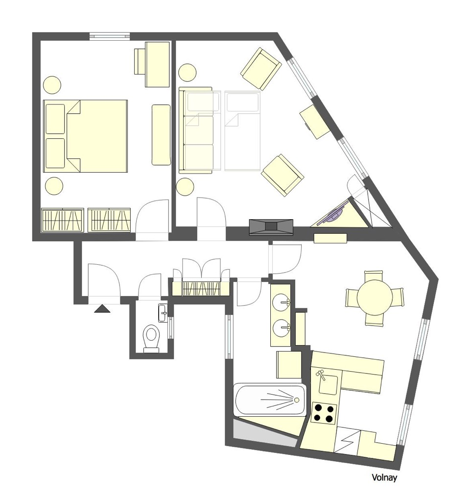 Eiffel Tower Apartment Floorplan