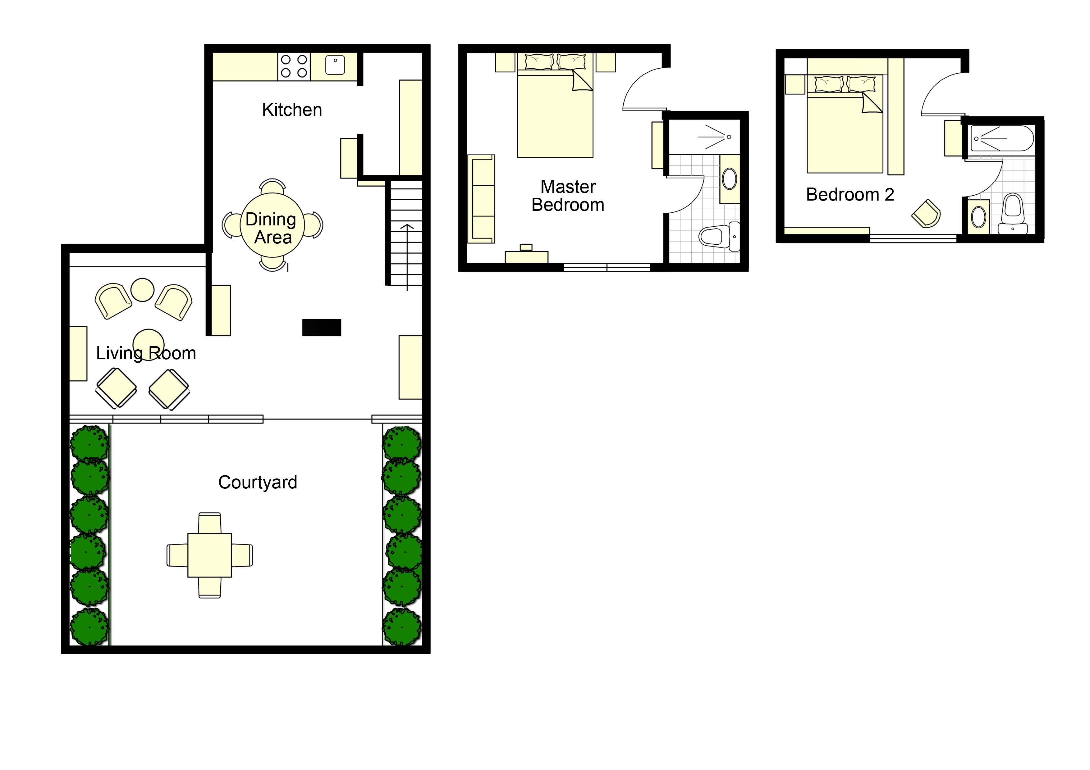Paris Apartment Floorplan