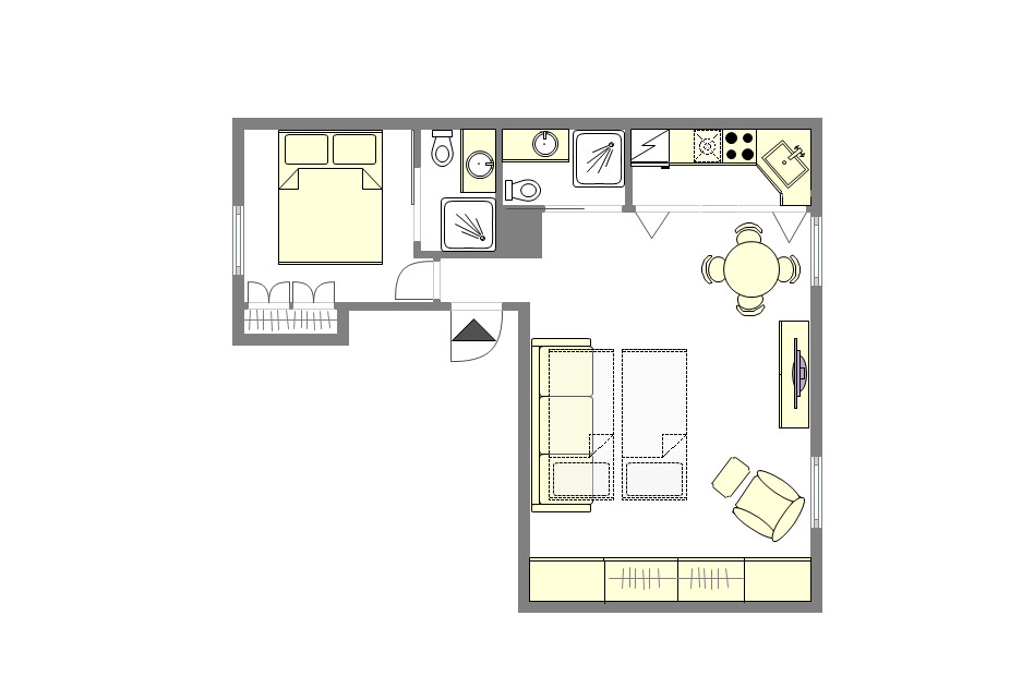 Palette Paris Apartment Floorplan