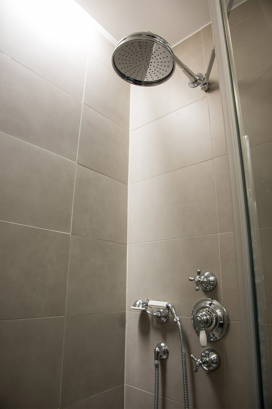 Second bathroom with shower and sink