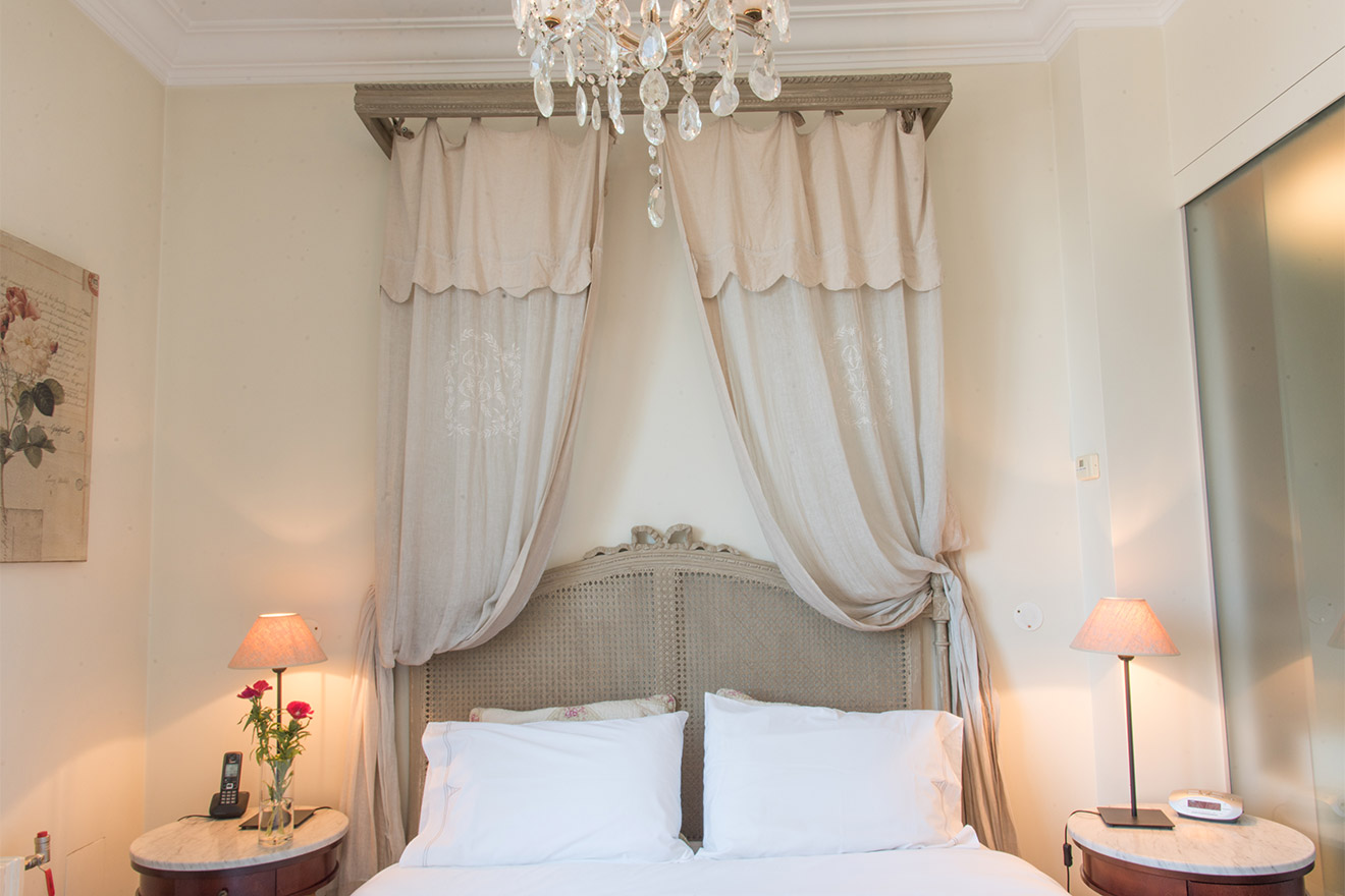 French-style bedroom one of the Chateau Latour vacation rental by Paris Perfect