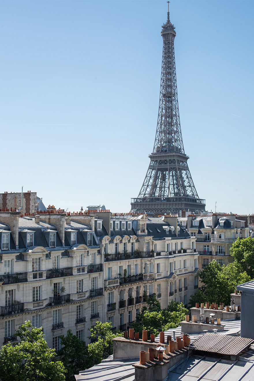 Eiffel Tower from the balcony of the Chateau Latour vacation rental by Paris Perfect