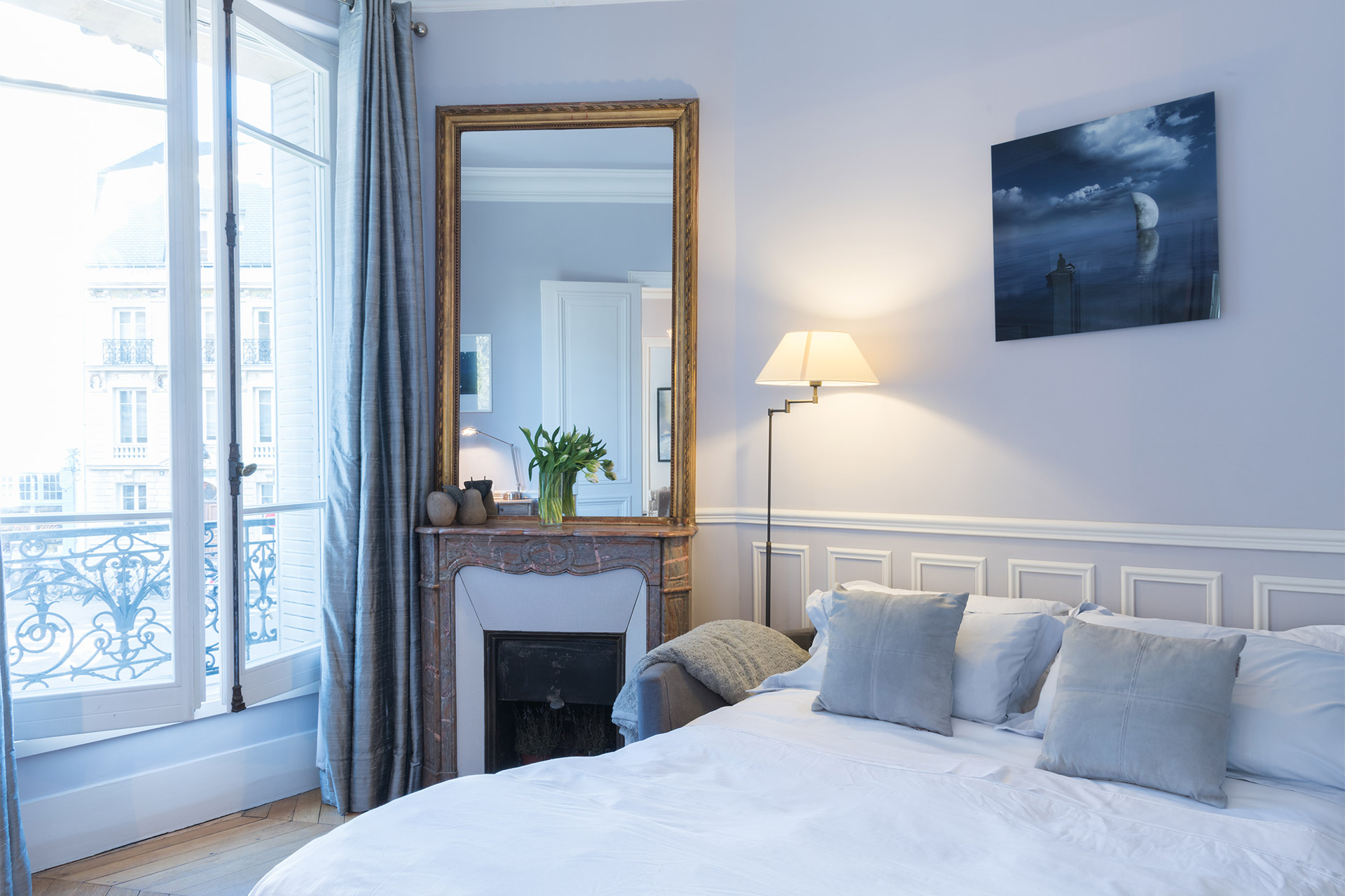 Convert the sofa into a comfortable double bed in the Maubert vacation rental offered by Paris Perfect