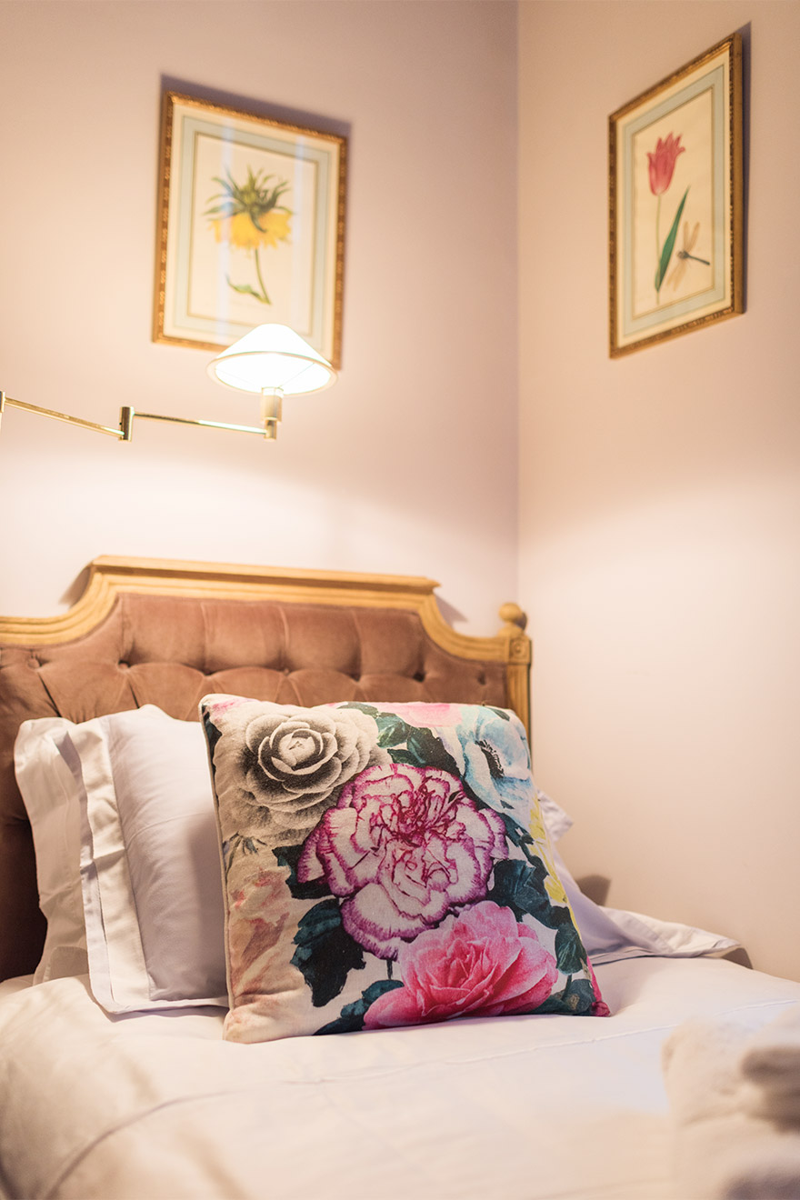French elegance in the second bedroom of the Maubert vacation rental offered by Paris Perfect
