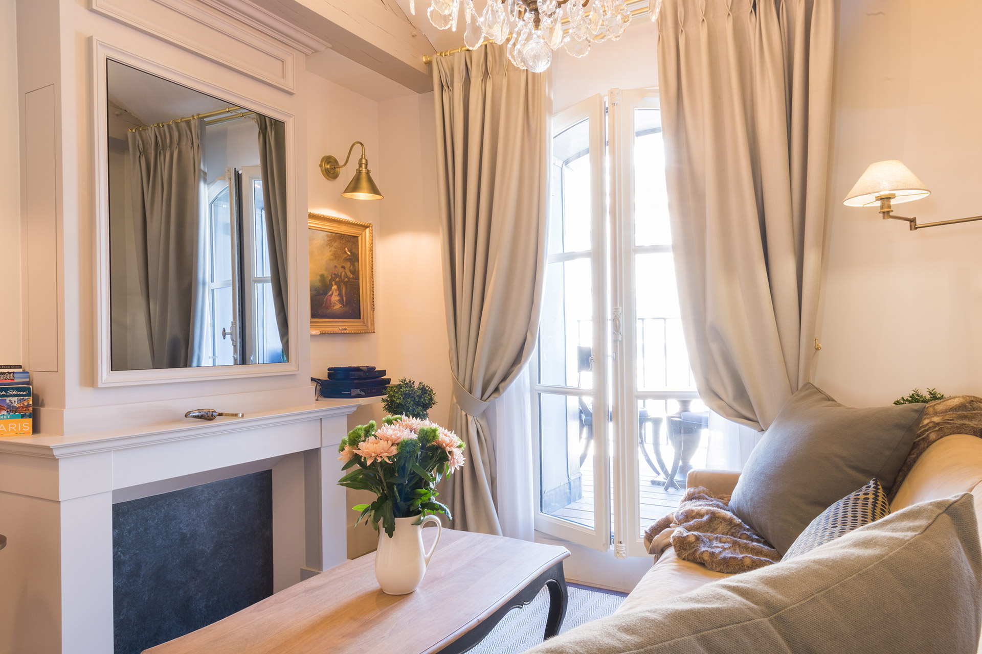 Relax in style in this elegant seating area of the Monbazillac vacation rental offered by Paris Perfect