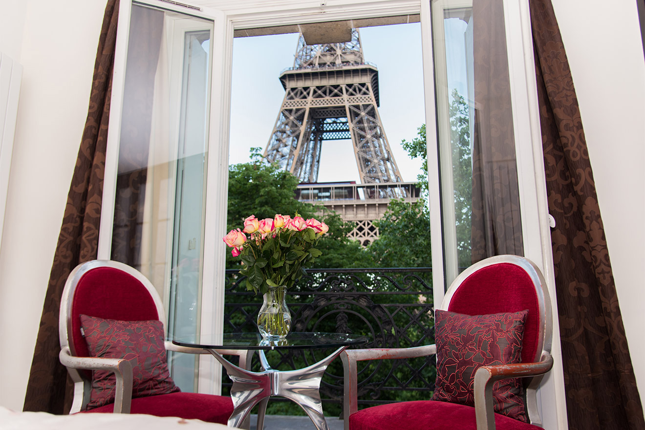 Absolutely incredible view of the Eiffel Tower from the Viognier vacation rental offered by Paris Perfect