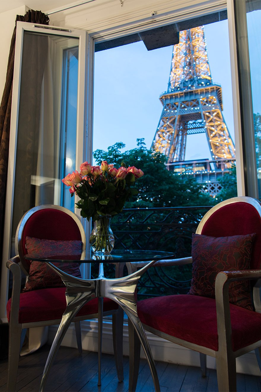 View of the Eiffel Tower right from your window in the Viognier vacation rental offered by Paris Perfect
