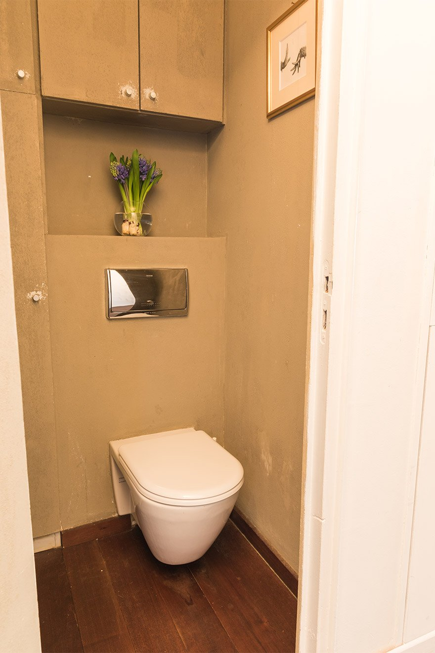 Separate half bath with toilet and sink in the Jacquere vacation rental offered by Paris Perfect