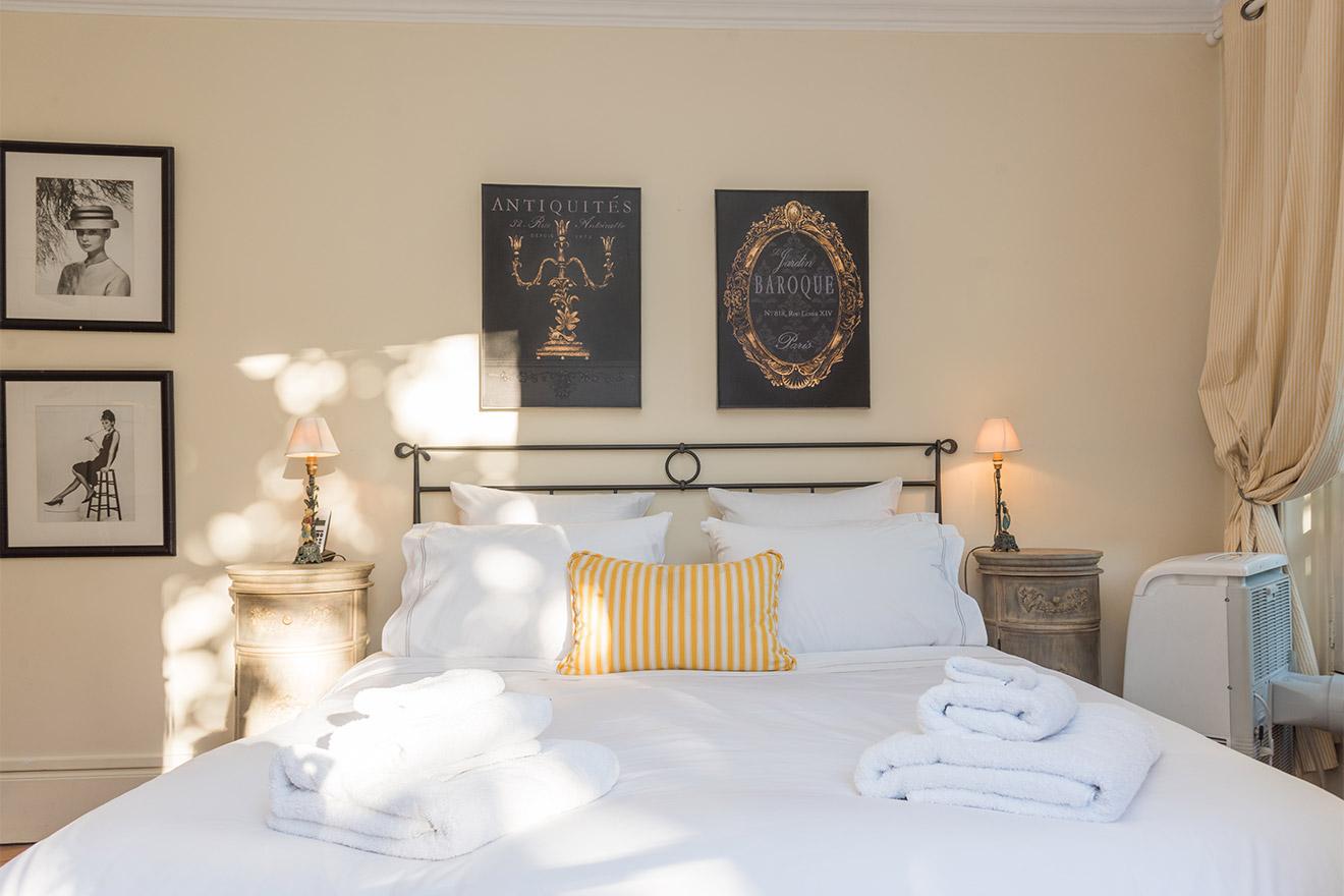 Extra wide queen bed