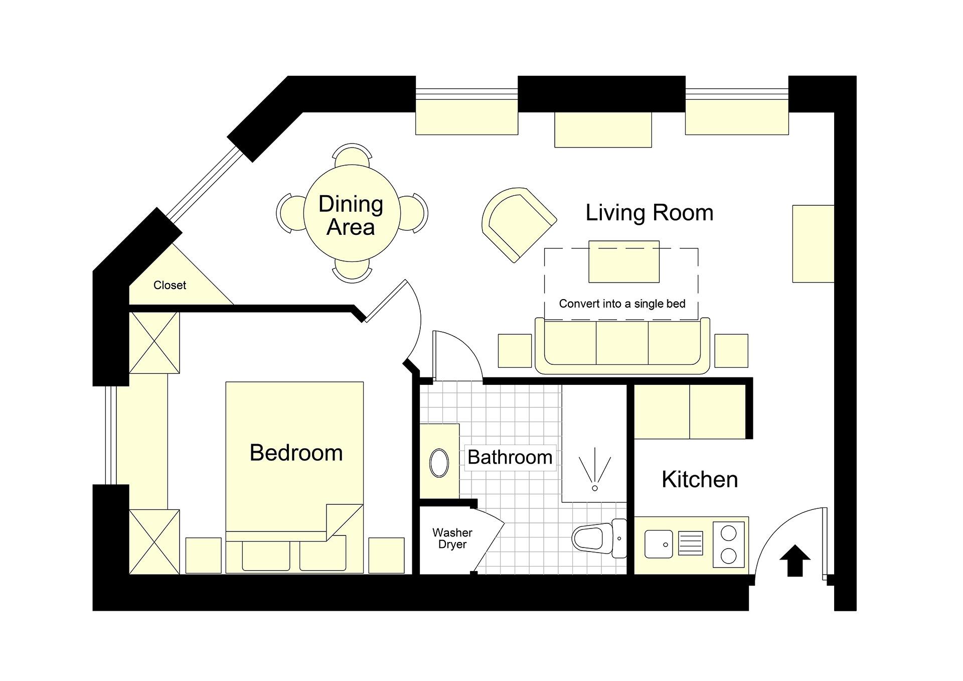 Pomerol Holiday Apartment Floorplan