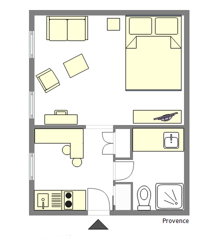 Cotes de Provence Floor Plan - perfect for two!