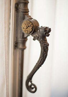Antique French Door handles