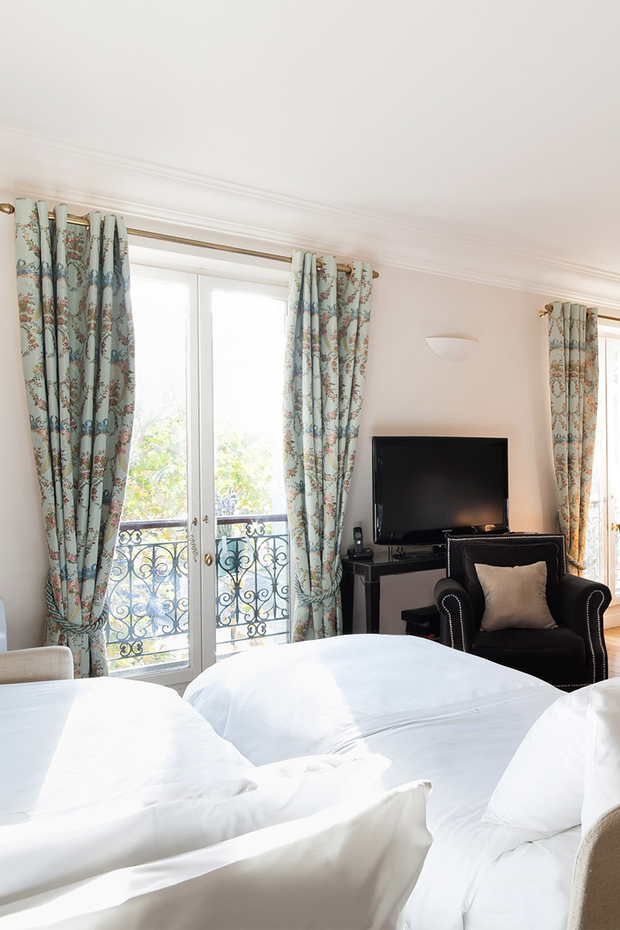 Parisian view from the sofa beds in the Saint Amour vacation rental offered by Paris Perfect