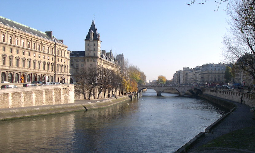 Seine River Bank Paris