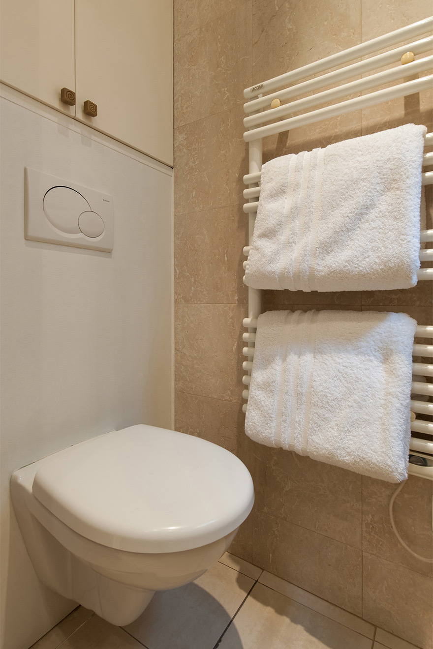 Toilet in the en suite bathroom of the Saint Julien vacation rental offered by Paris Perfect