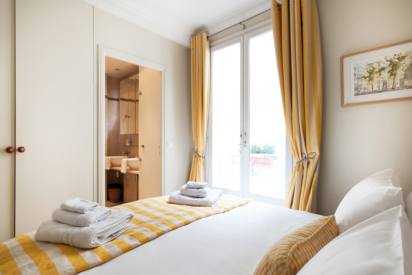 Tranquil bedroom one of the Saint Julien vacation rental offered by Paris Perfect