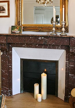 Red Marble Fireplace